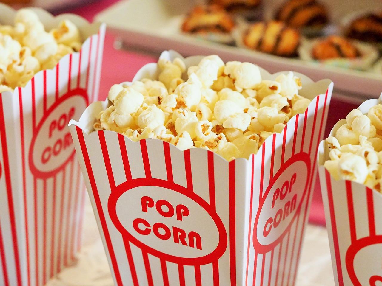 a full bucket of popcorn