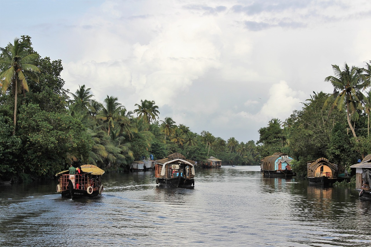 Houseboats in Backwater Kerala
