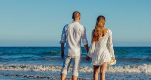 romantic walk in Goa