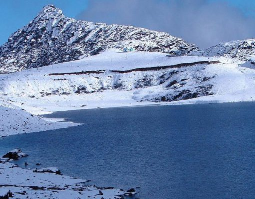 frozen lake in Tawang in India