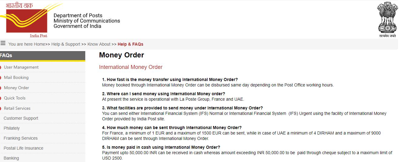 international money orders