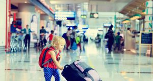 Kids in airport