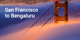 Sanfransico to Bangalore Flight booking services