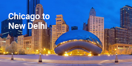 Chicago to NewDelhi Flight booking services